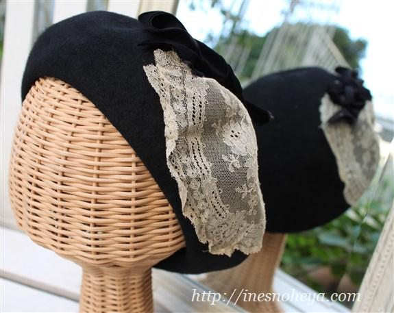 レースコラージュベレー帽