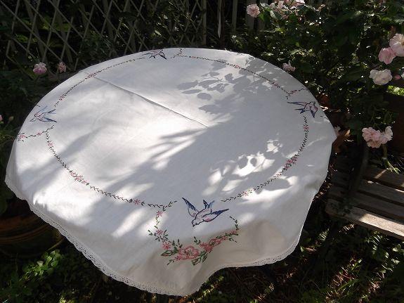 イギリスヴィンテージのテーブルクロス